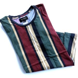 Men's multi color stripe Tee-Shirt